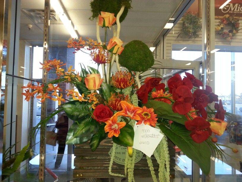 Silk flower arrangement made at michaels Minnetonka