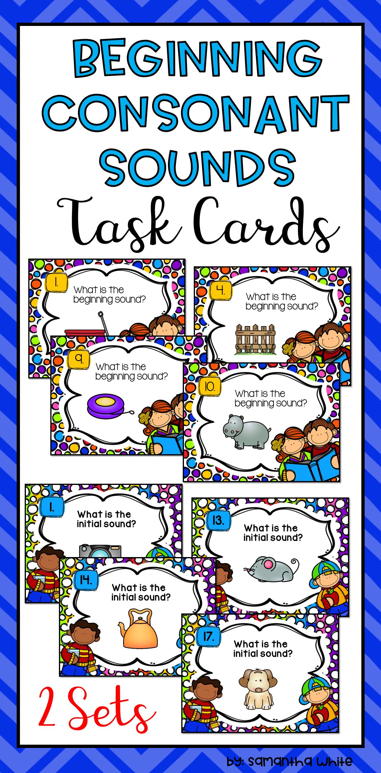 Beginning Consonant Sounds Task Cards
