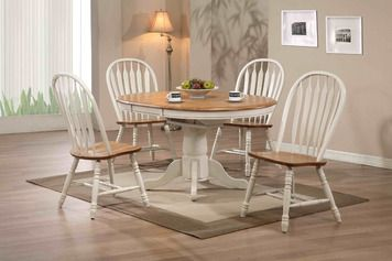 Antique White Round Dining Table E C I Furniture Home Gallery