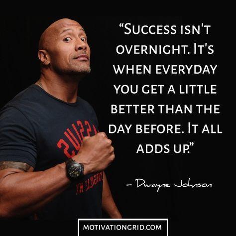 Nice Dwayne Johnson Inspirational Image Quote