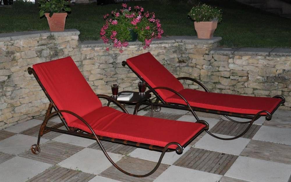 chaise longue en fer forge gordes