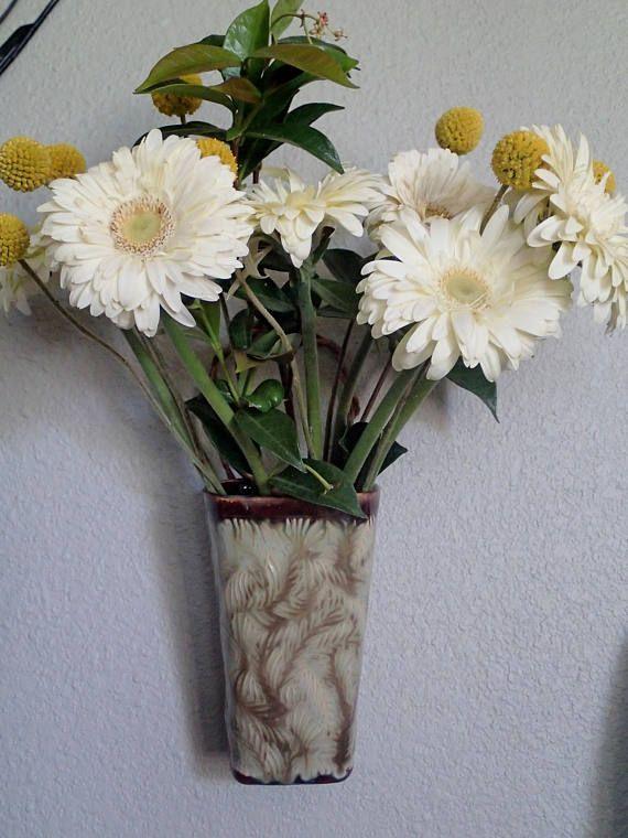 Ceramic Wall Vase Textured Vase Square Vase Hanging Floral
