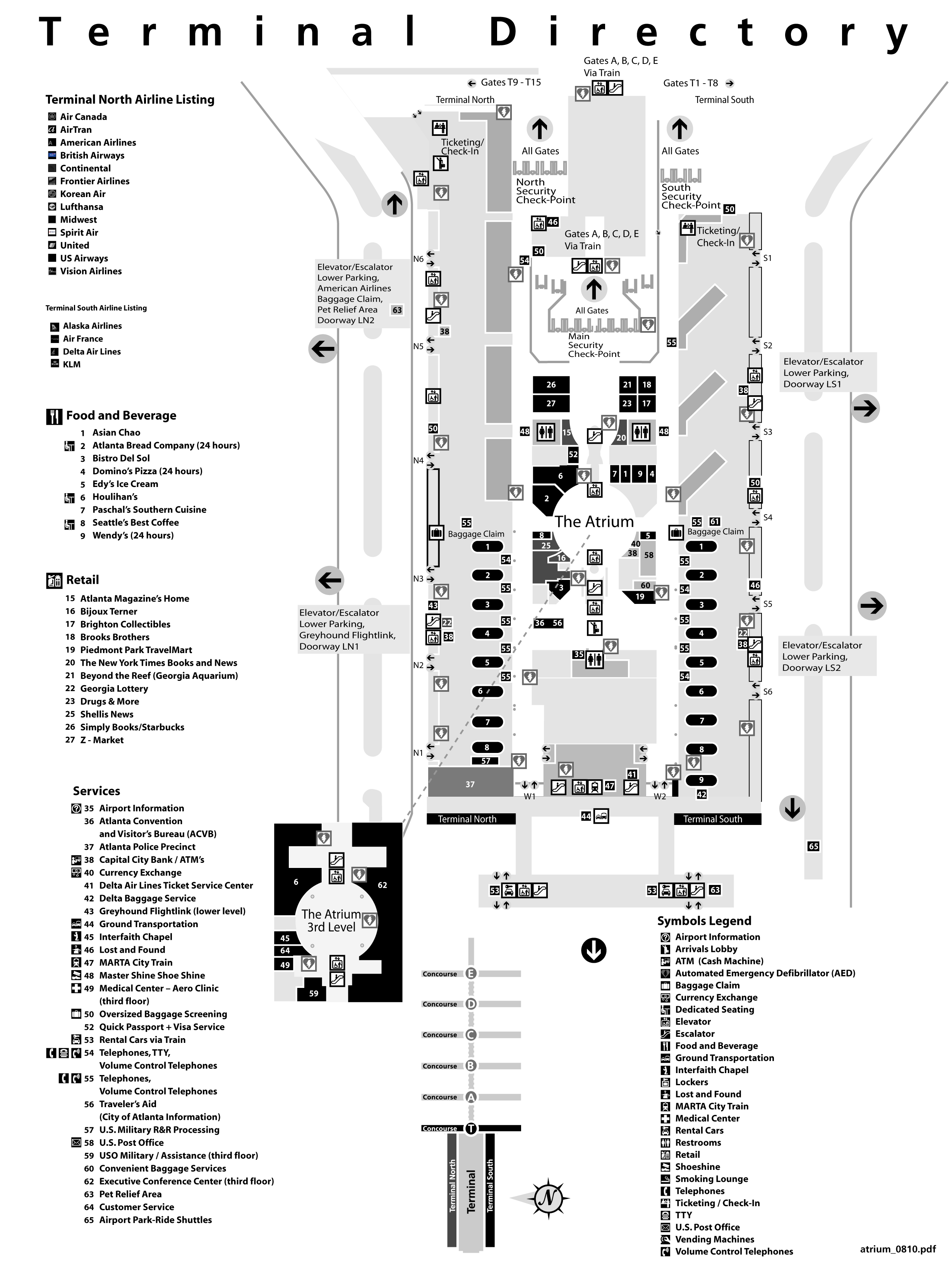 Atlanta Airport terminal map Can I go NOW PLEASE Pinterest