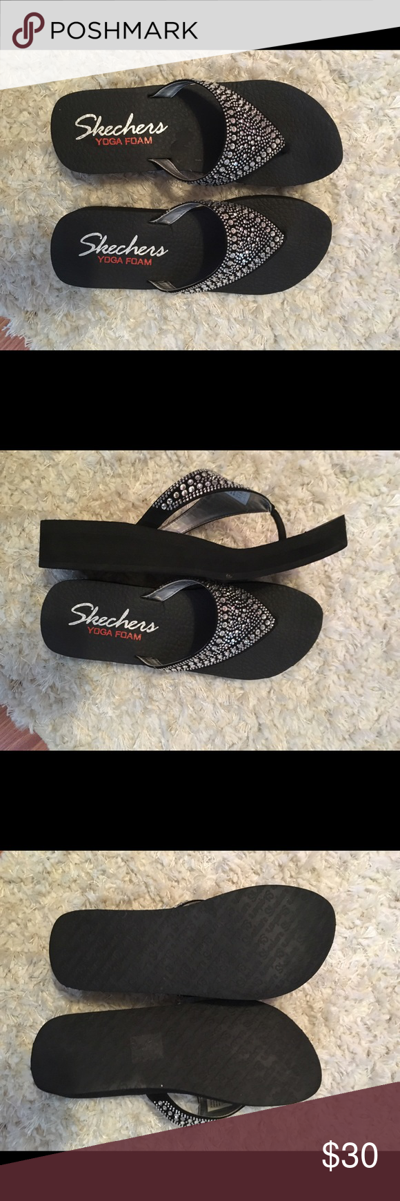dd14c375aa86dc Skechers Yoga Foam Flip Flops Worn once - bought were too big Shoes Sandals