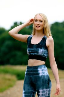 Tie Dye Activewear Set - The blend of  bamboo, organic cotton and elastane makes for incredible softness, odour resistance, durability and a snug fit. Cucur Ethical Clothing