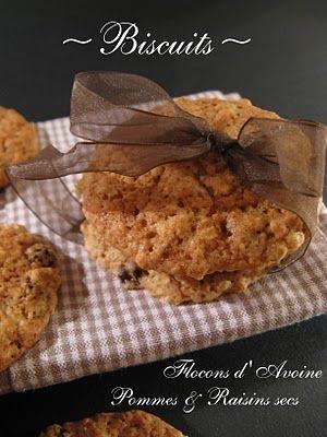 Biscuits aux Pommes & aux Flocons d'Avoin