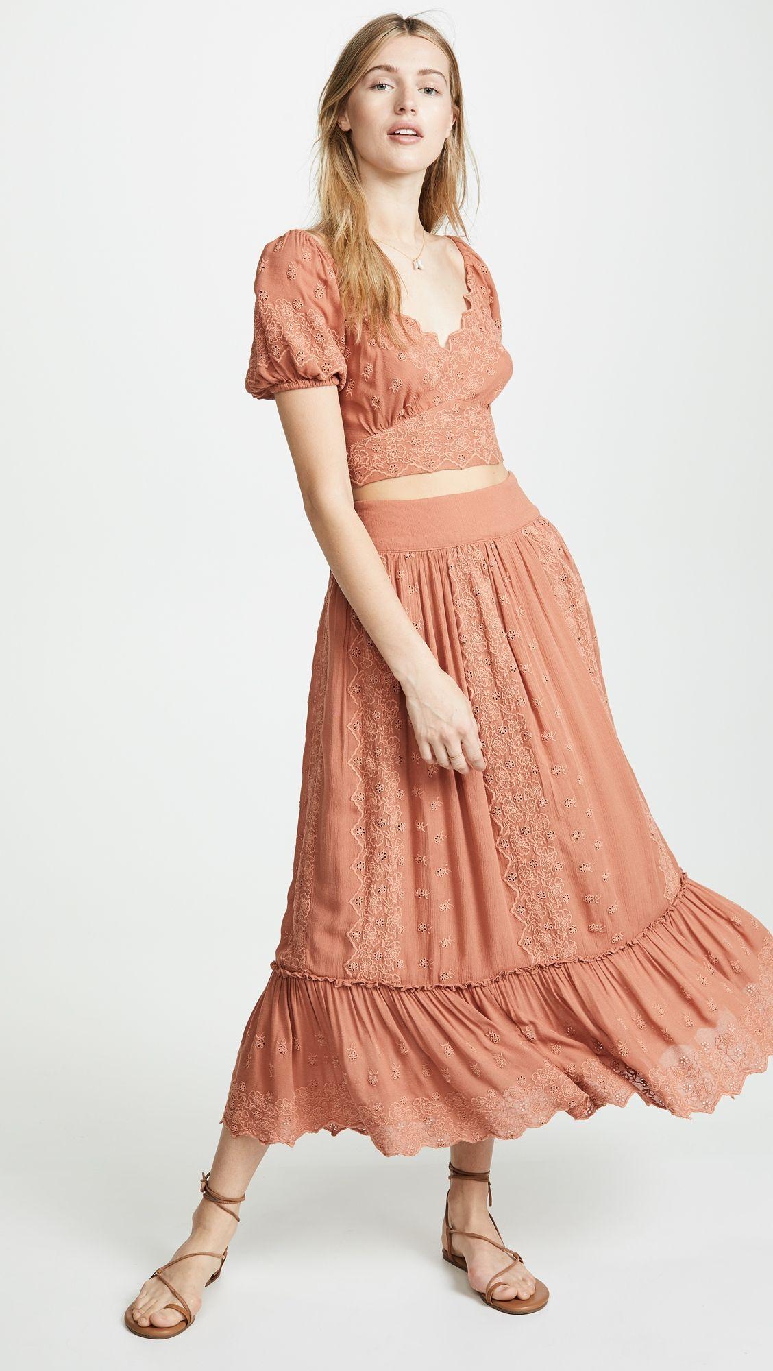 76dd08ff1c3b Free People Ella Shirt & Skirt Set in 2019   Products   Shirt skirt ...