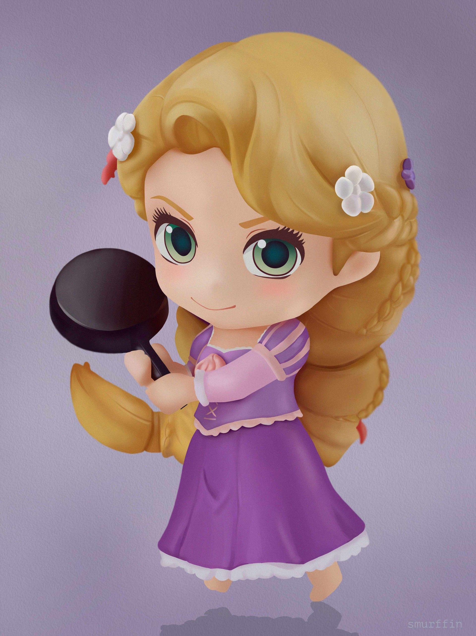 Banpresto Rapunzel Girlish Charm Q Posket Figure Disney Bambola Pupazzo