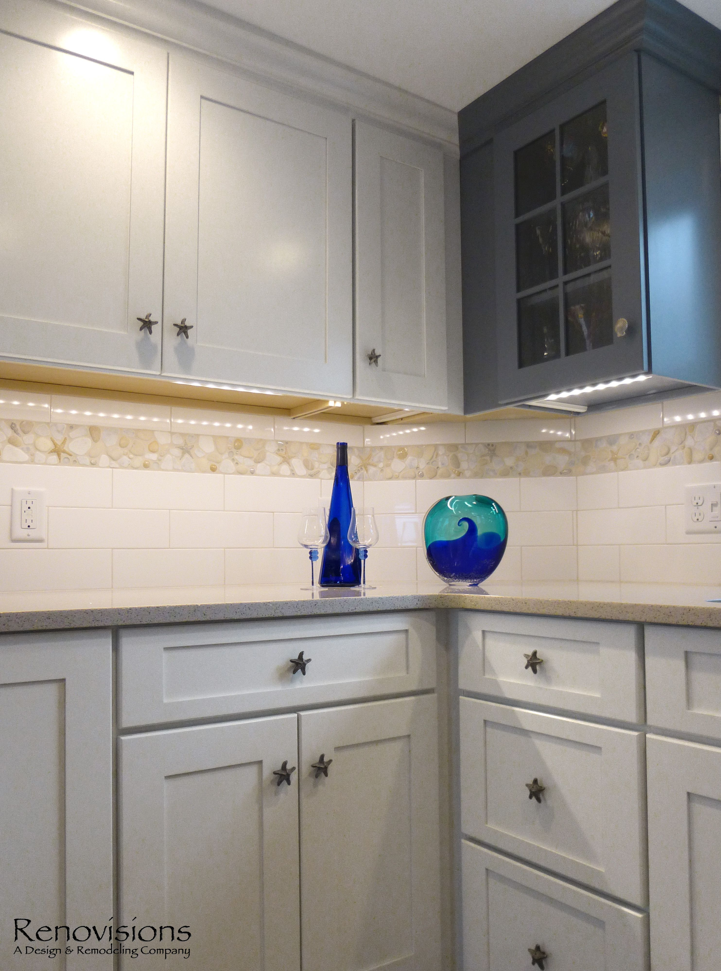 style beach stainless entity distressed blue appliances black outdated kitchen with oak dark cottage cabinets