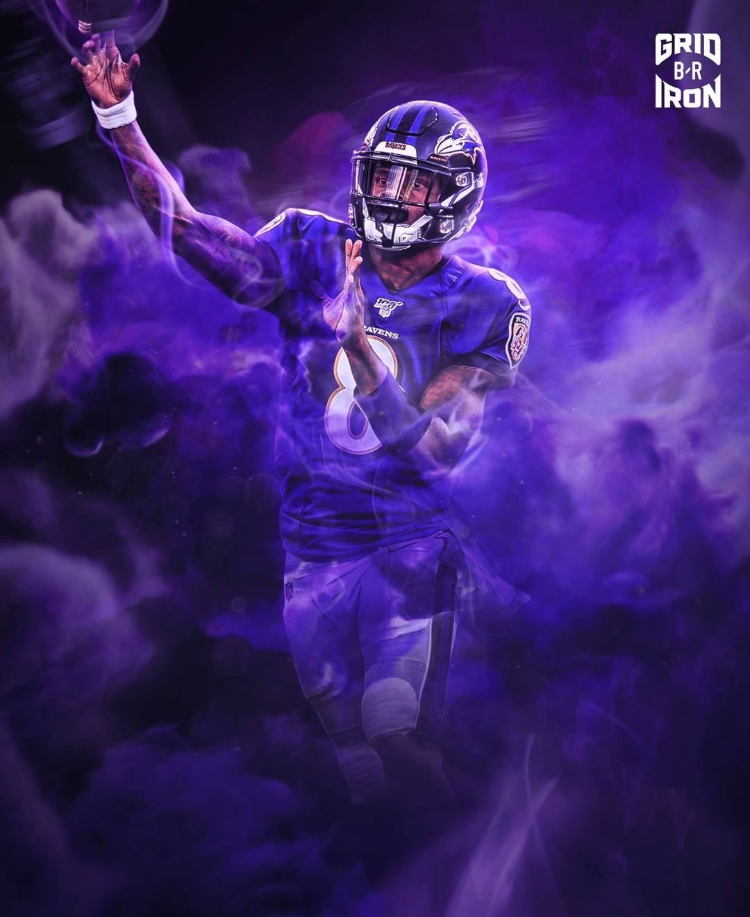 American Football Player Wallpaper Http Wallpapersalbum Com American Football Player Wallpaper Htm In 2020 Nfl Football Art Ravens Football Baltimore Ravens Football
