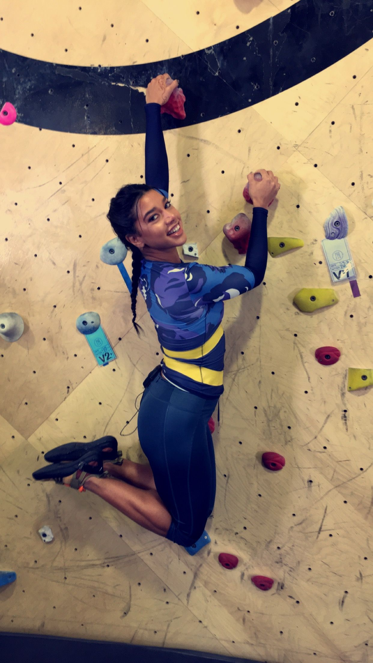Hannah Bronfman Tries Bouldering — and We're Seriously in
