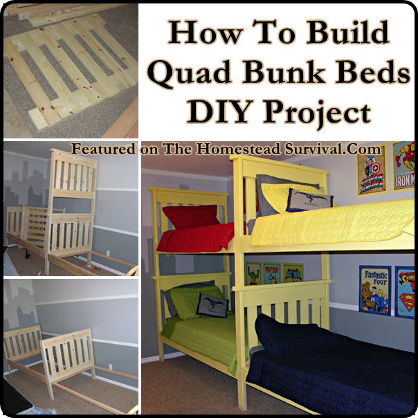 Diy Quad Bunk Bed Project Stuff To Try Bunk Beds Kids