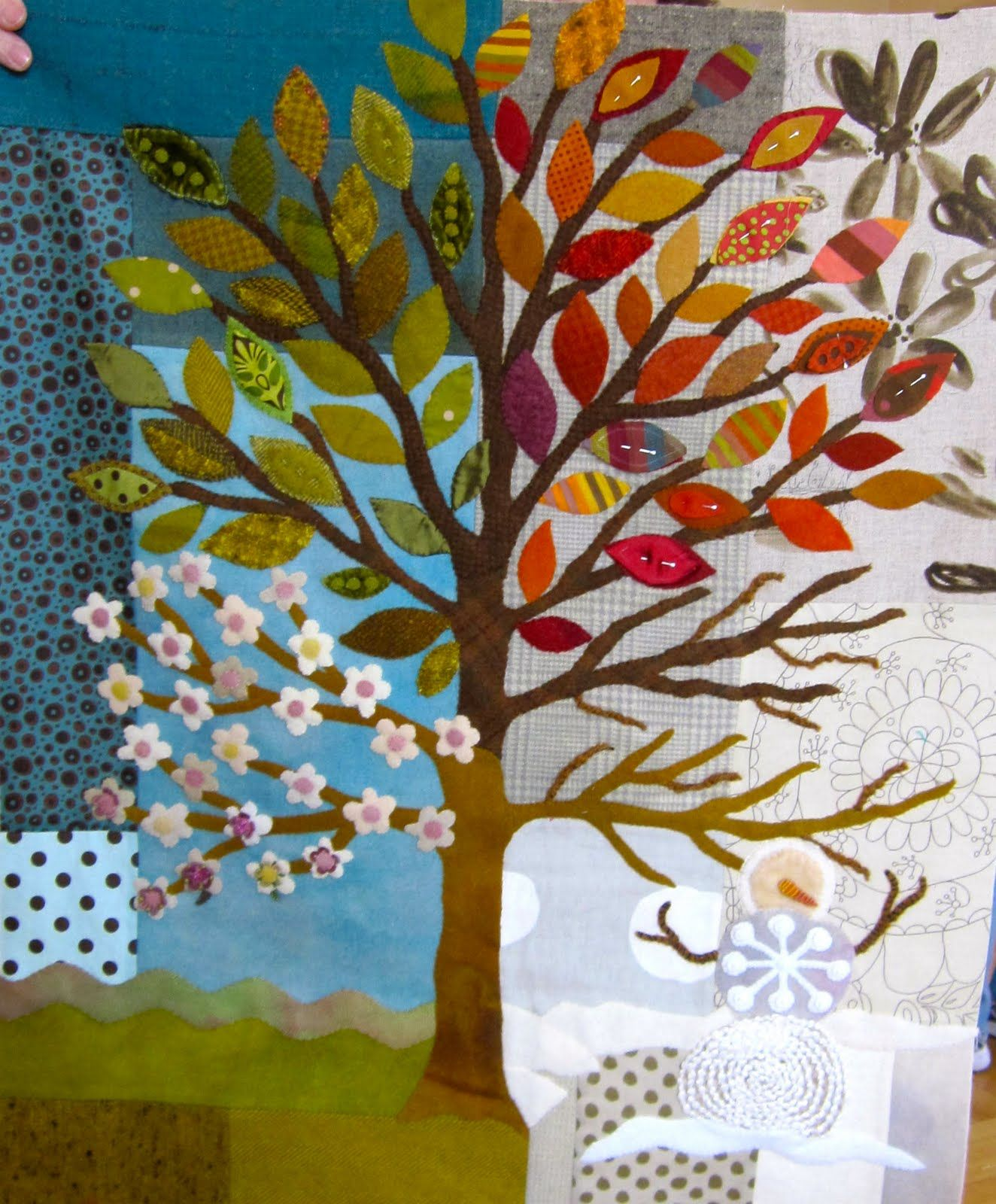 Four Seasons Tree By Sue Spargo Wool Applique