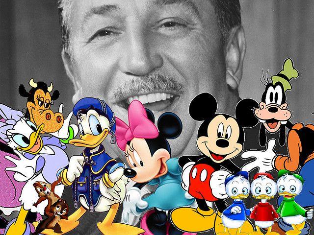 Walt Disney and characters