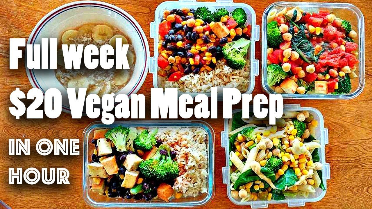 Meal Prep For The Week For 20 Vegan Easy Combined Her Ideas With Liv S Made Salads Broccoli Coo Vegetarian Meal Prep Cheap Vegan Meals Vegan Meal Plans