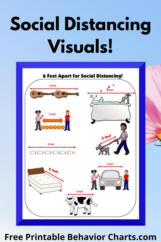 Social Distancing Reminders Free Printable Behavior Chart Behaviour Chart Charts For Kids