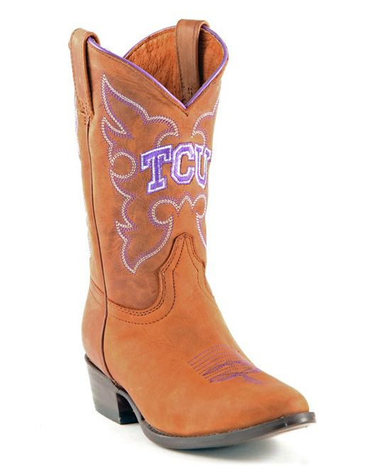 1dd03c26534 Texas Christian Horned Frogs Leather Cowboy Boot - Toddler   Kids ...