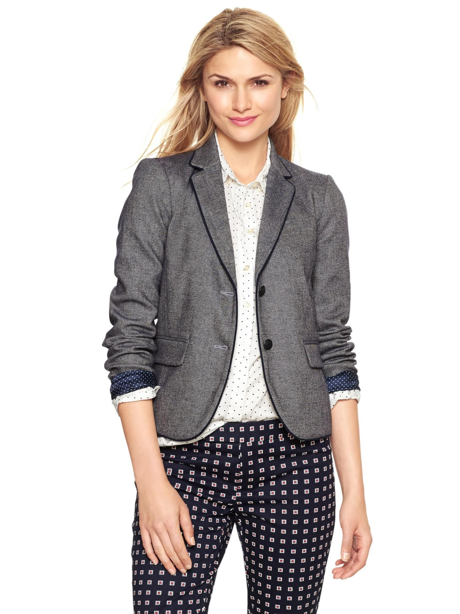 48f352bba8d0c Tweed academy blazer - navy | Gap | Banana Republic | Fashion ...