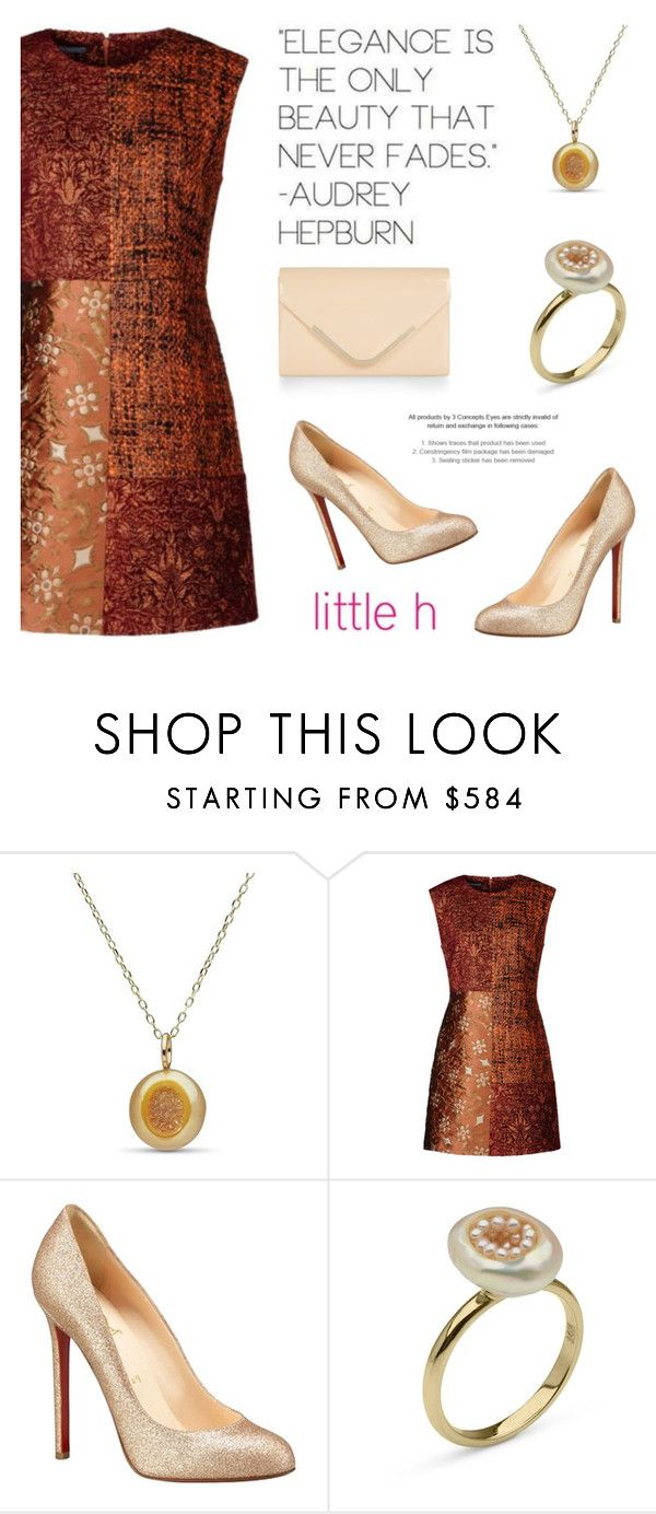 """""""Gold and Peach by Little h Jewelry"""" by littlehjewelry ❤ liked on Polyvore featuring Christian Louboutin and Accessorize"""