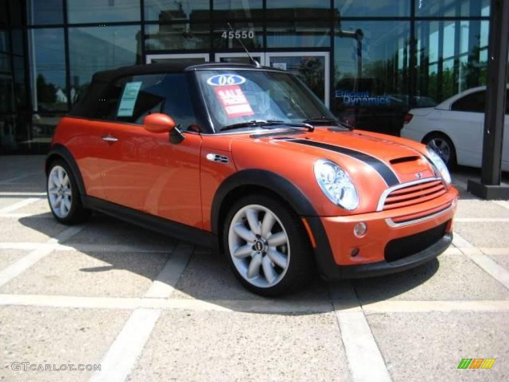 2006 Mini Cooper Convertible S Hot Orange Metallic Color Panther
