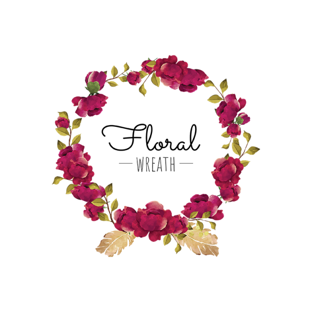 2020 的 Flower Wreath, Flower, Wreath, Red PNG and Vector