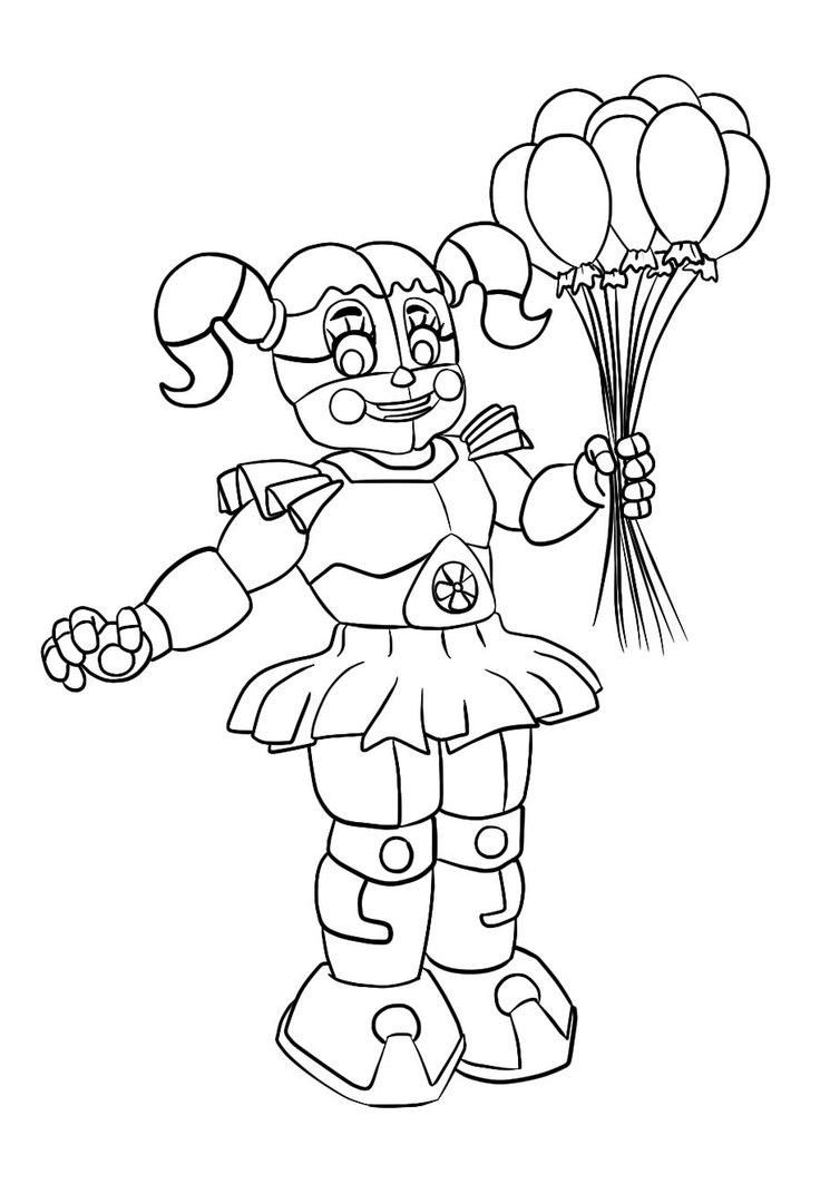 Fnaf Baby Coloring Pages : coloring, pages, Coloring, Pages, Beautiful, Circus, Sister, Pages,