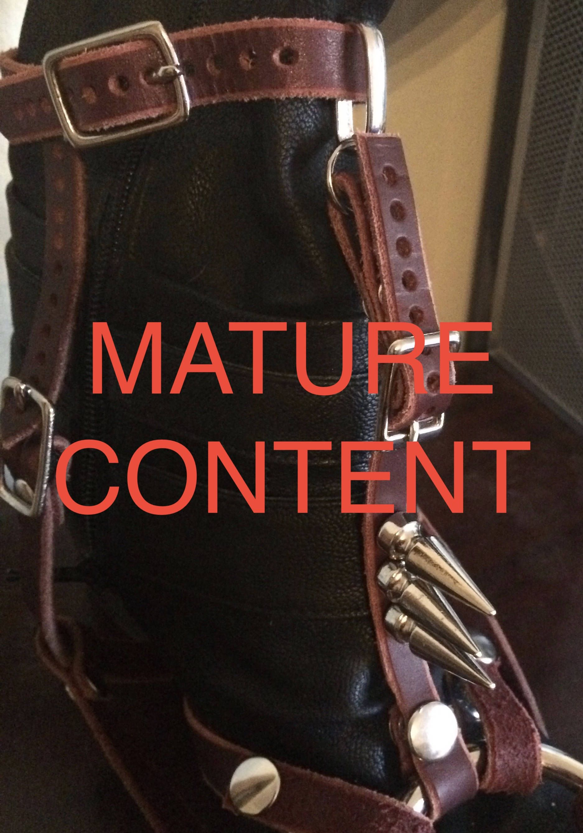mature handmade custom leather boot strap-on harness strapon sexy