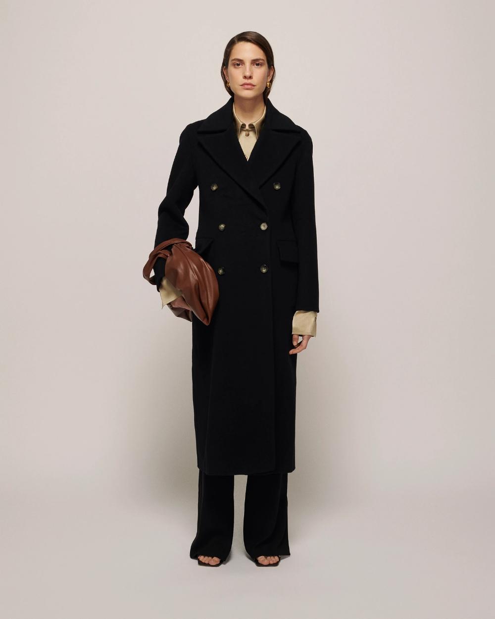 Lana Wool And Cashmere Blend Coat Black Nanushka Black Coat Coat [ 1250 x 1000 Pixel ]
