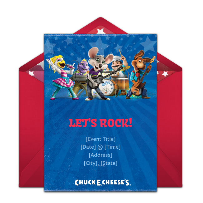 Customizable Free Chuck E Cheeses