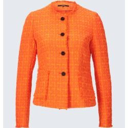 Photo of Bouclé blazer in orange windsor