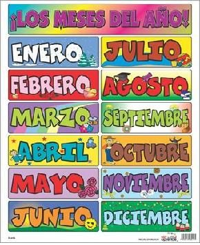 Los Meses Del Ano Paneles Asamblea Pinterest Kinder Y Spanisch