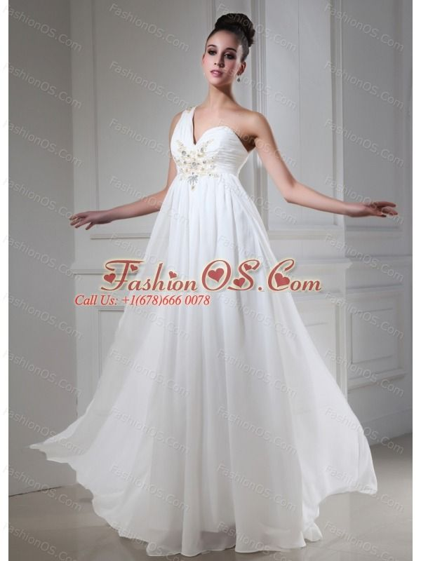 one shoulder 2013 prom dress with beaded empire for custom
