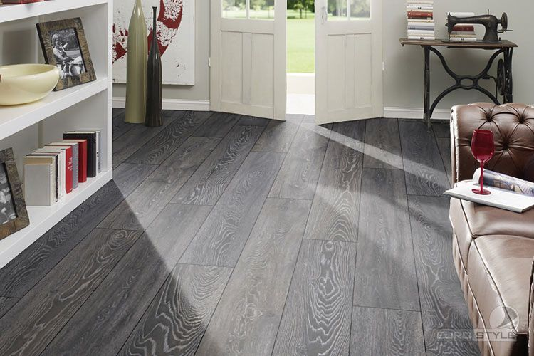 grey slate tile effect laminate flooring installing