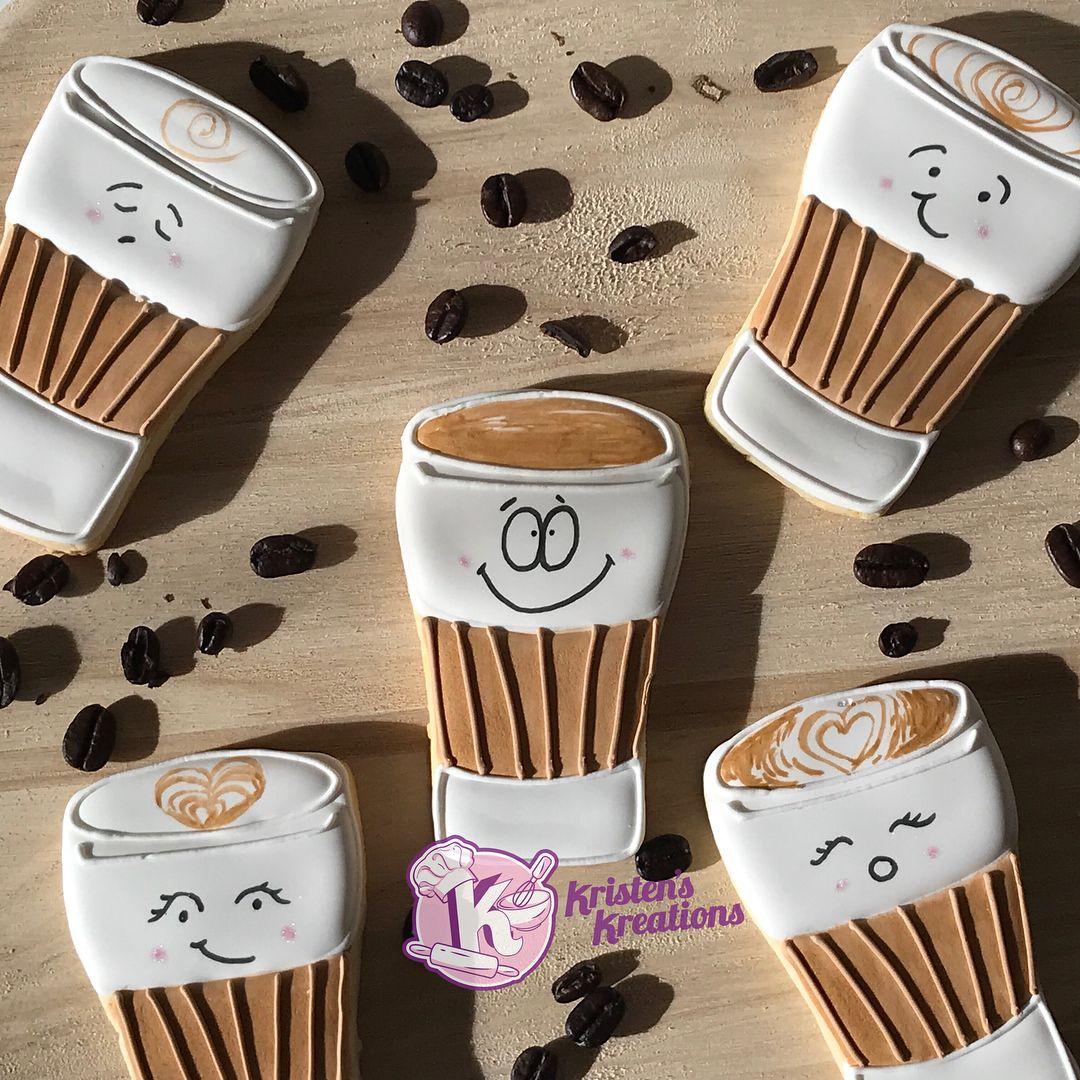 Coffee Cup Cookies Chai Tea Latte Flavored 🍵