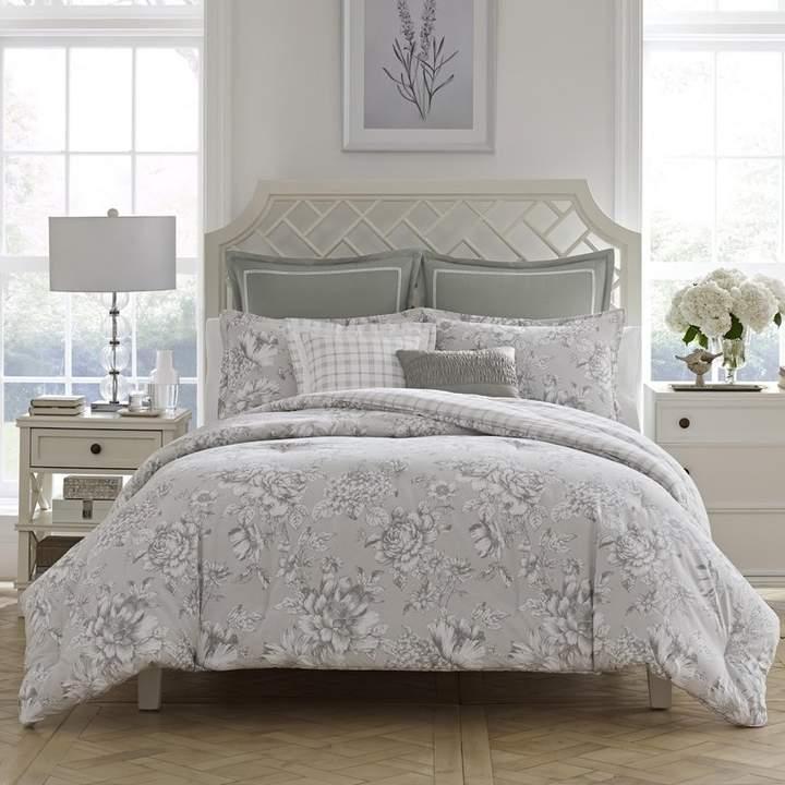 Laura Ashley Bridgette Cotton Reversible Comforter Set By Home