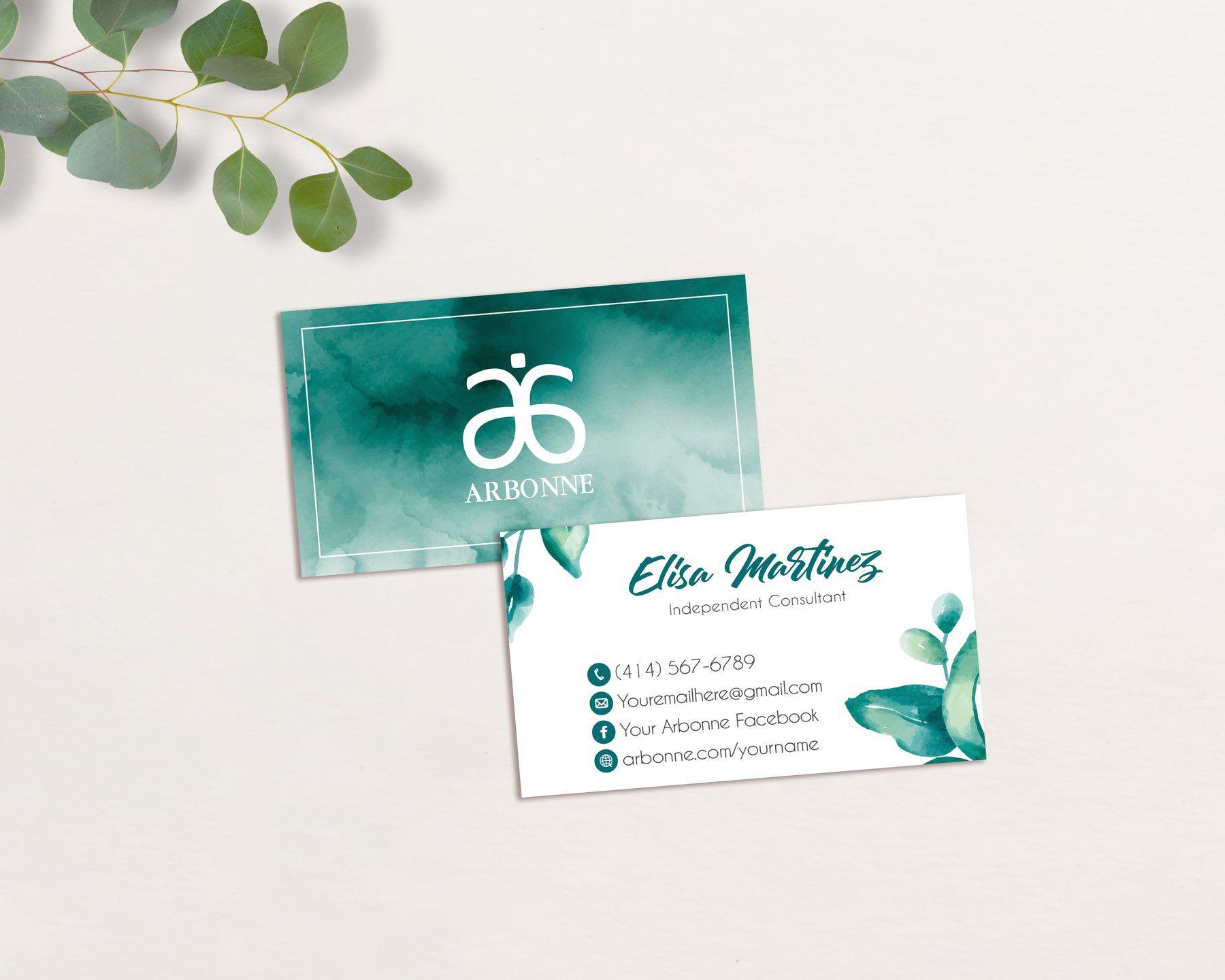 Arbonne Business Cards Personalized Arbonne Cards Ab104 Arbonne Business Cards Arbonne Business Arbonne