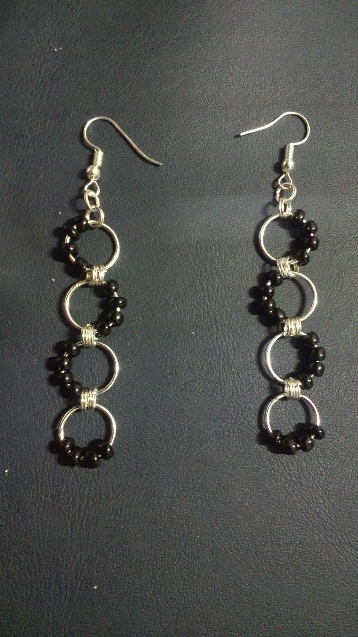 Long Drop Earrings Diy Wire Wrap Earrings Pinterest Earrings