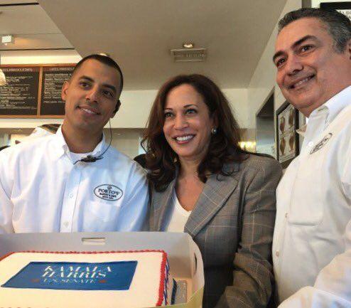 "Kamala Harris on Twitter: ""Love this beautiful Kamala Harris for U.S. Senate cake from @portos in Downey! #gotv https://t.co/AMbeQ7W8PF"""