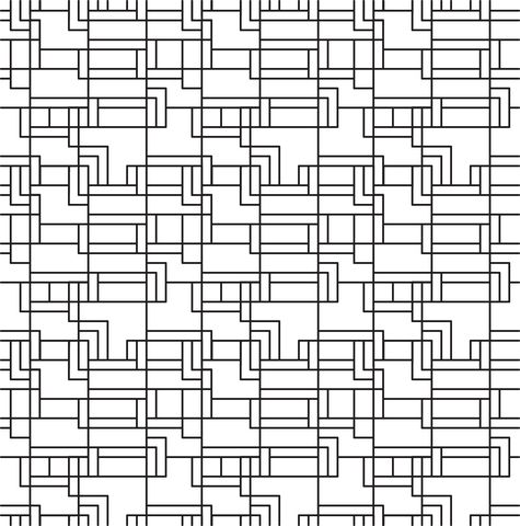 Ashlar Lines Tiled Pattern Coloring page