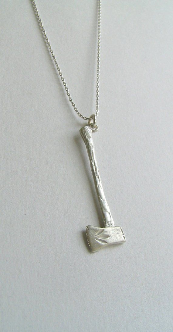 Sterling Silver Axe Necklace. Sterling Silver axe necklace ...