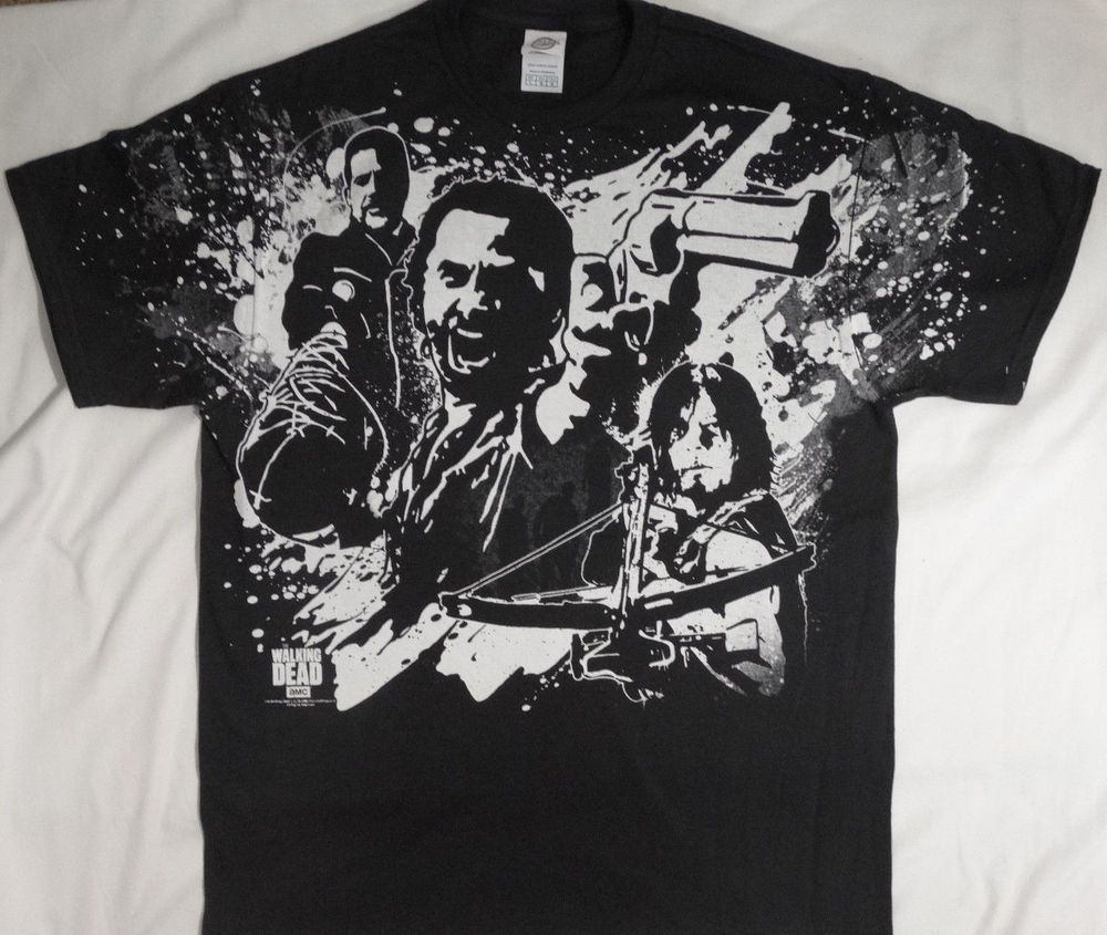 13cd1ef71 The Walking Dead TWD Negan Rick Grimes Daryl Dixon Walkers Splatter T-Shirt  #TheWalkingDead #GraphicTee
