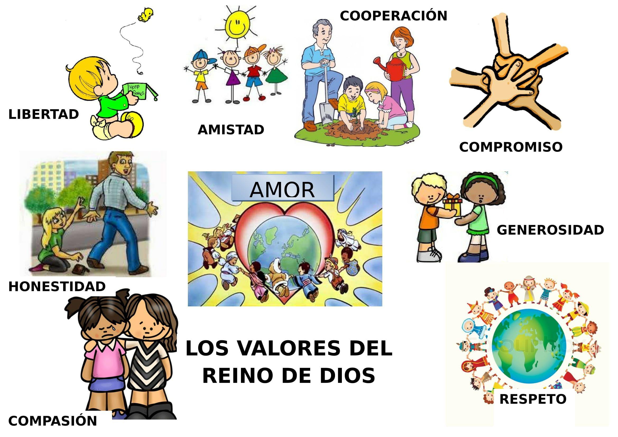 Valores Del Reino De Dios Educacion De Valores Dios Catecismo