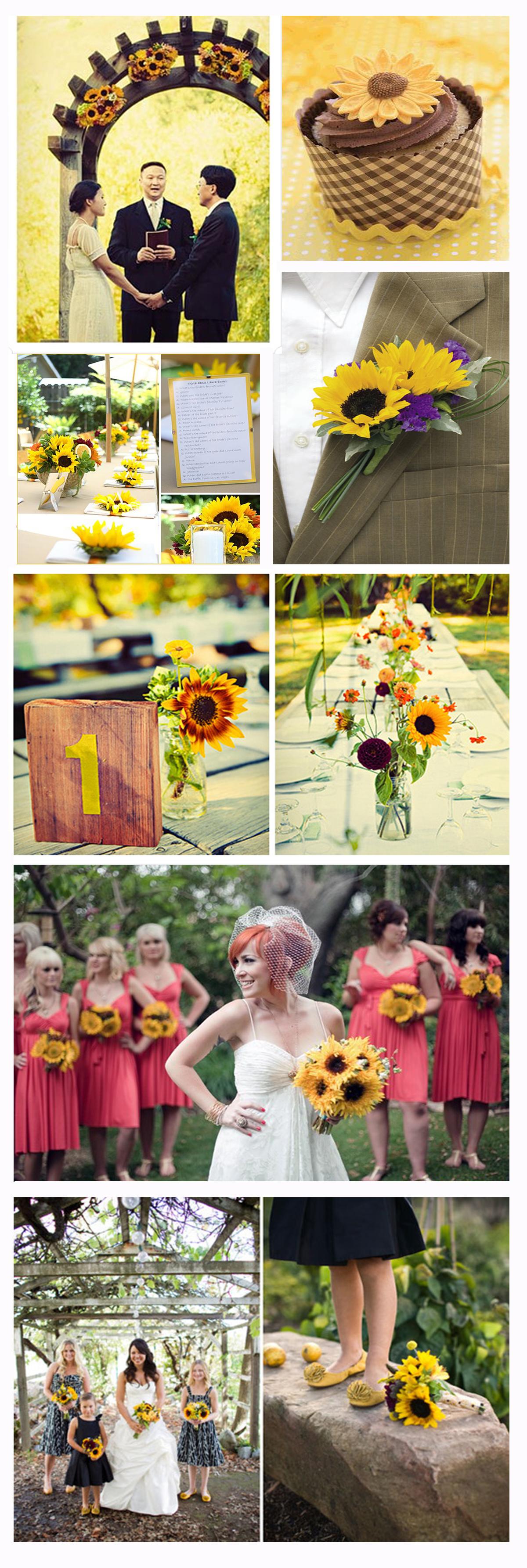 Sunflower Wedding Theme Sunflower Wedding Inspirations Pinterest
