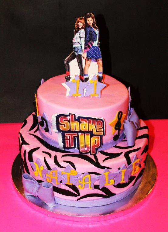 Cool Shake It Up Cake Kids Loved Watching Me Create This Cake A Show Birthday Cards Printable Riciscafe Filternl