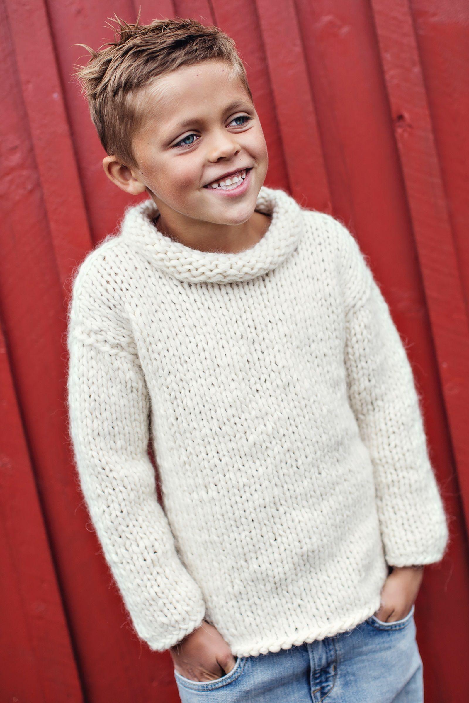 boys kids big wool merino super chunky turtleneck sweater ...