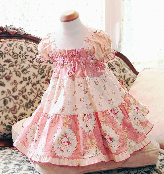 Pink Toddler Dress Girl Toddler Gift Floral Toddler Girl Clothes Cotton Toddler Baby Dress Size 3 6 9 12 18 24m 2T 3T 4T Rose Toddler Outfit