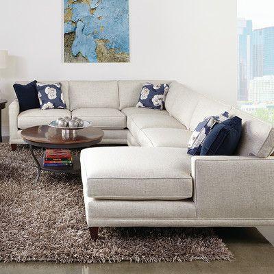 Rowe Furniture Townsend Sectional Amp Reviews Wayfair