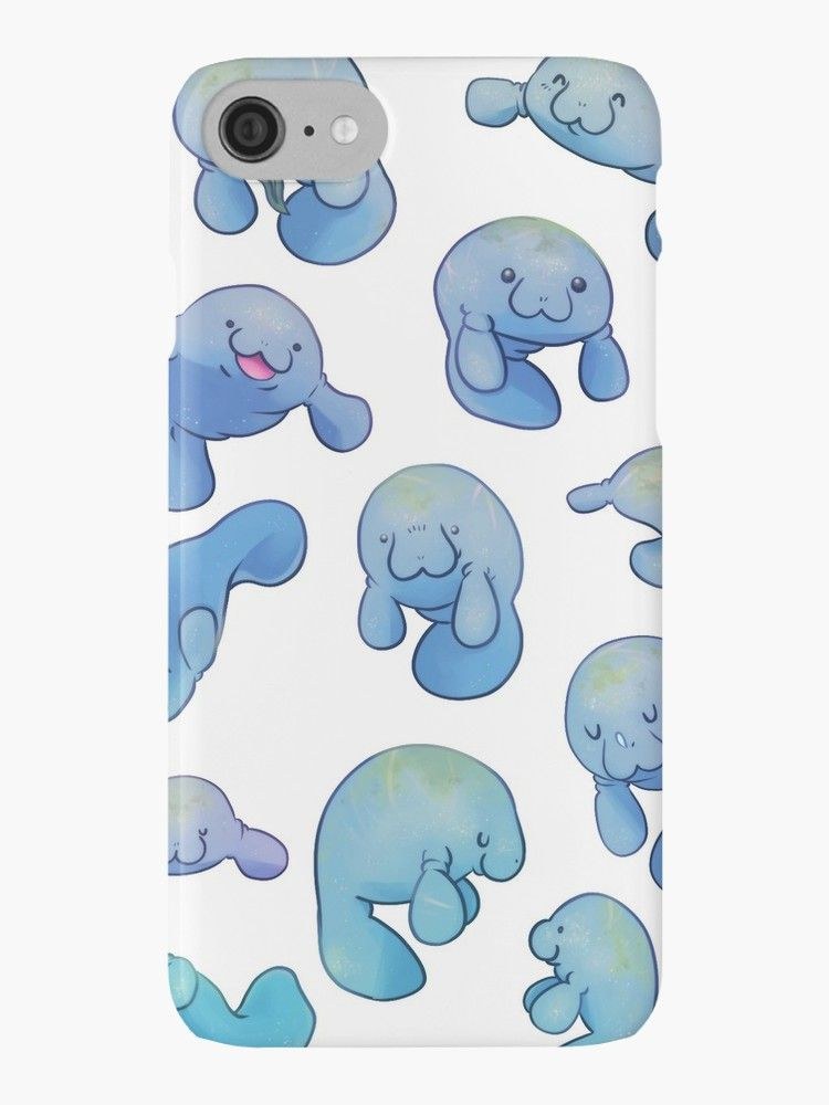 d553b6945 Lovely round manatees! • Also buy this artwork on phone cases, apparel,  stickers, and more.