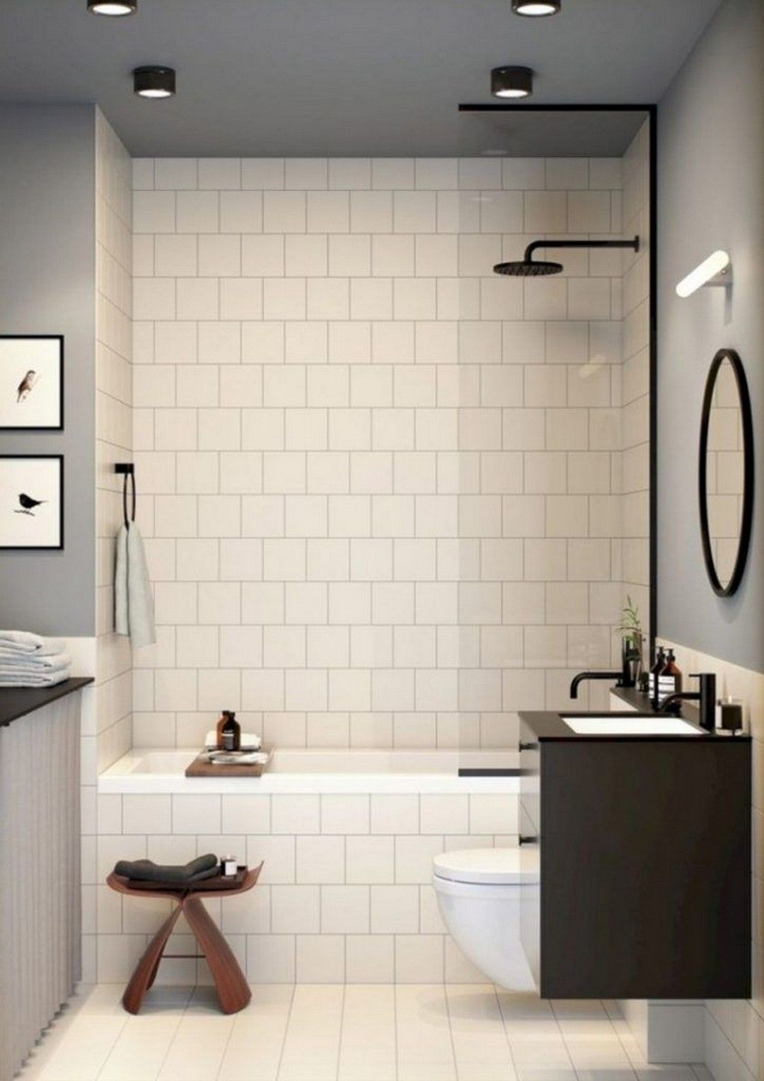 This Tiny Bathroom Was Transformed From Boring To Fresh And Modern And Bathroom Boring Small Bathroom With Shower Bathroom Remodel Shower Tiny Bathrooms