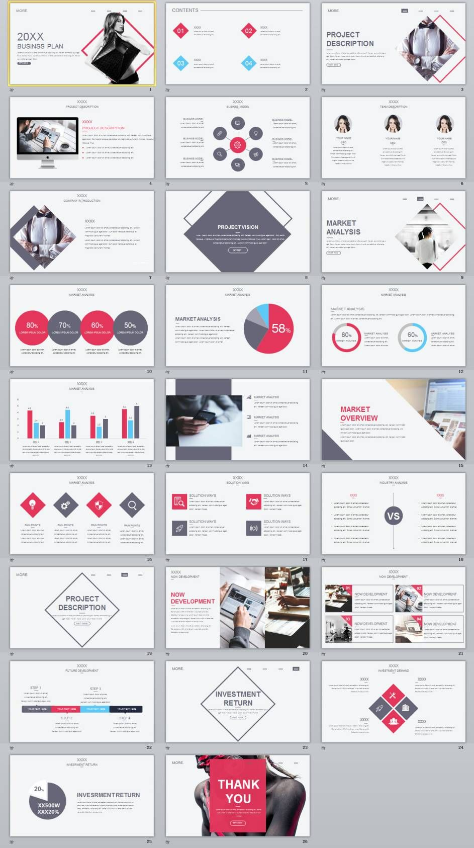 Concise Magazine Business Plan PowerPoint Template Business - Magazine business plan template